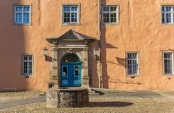 Tür des Welfenschloss-Schlosses in Hann Munden Lizenzfreie Stockbilder