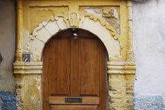 Tür in einer alten Stadt von Essaouira Stockfotografie