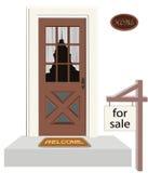 Tür eines Hauses Lizenzfreies Stockbild