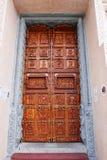 Tür eines hindischen Tempels Stockfotos