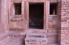 Tür-Fenster u. Treppe Stockfoto