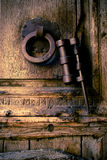 Tür-Griff und Klopfer Lizenzfreies Stockbild