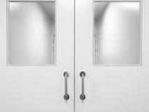 Tür im Cleanroom Stockfoto