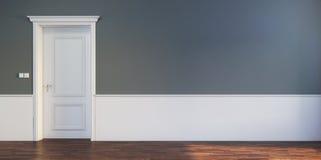 Tür im leeren Raum Lizenzfreies Stockfoto
