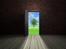 Tür im Raum Lizenzfreie Stockfotos