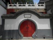 Tür mit chinesischen Eigenschaften Stockbild