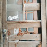 Tür mit Detail Lizenzfreie Stockbilder
