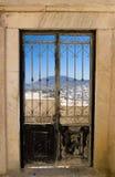 Tür mit einer Ansicht Lizenzfreies Stockbild