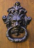 Tür mit Türklopfer Lucca, Italien stockbild