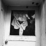 Tür mit Vorhang Stockbilder
