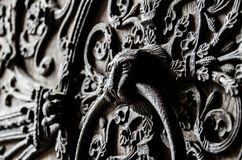 Tür Notre Dame Lizenzfreie Stockbilder