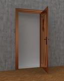 Tür offen und konkret vektor abbildung