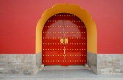 Tür am Tempel des Himmels-Parks. Peking. China. Lizenzfreies Stockfoto