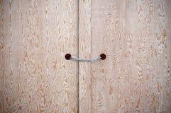 Tür und eine Kette Lizenzfreie Stockfotos