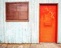 Tür und Fenster Stockbild