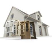 Tür- und Fensterersatz lizenzfreies stockbild