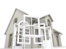 Tür- und Fensterersatz lizenzfreie stockfotos