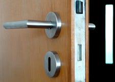 Tür und Griff Stockfoto