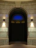 Tür und Leuchte Stockfotos