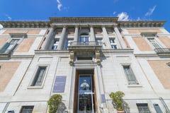 Tür von Murillo im Prado-Museum, klassische Steinsäulen, GA lizenzfreies stockbild