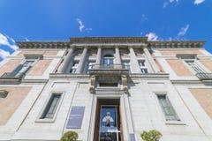 Tür von Murillo im Prado-Museum, klassische Steinsäulen, GA lizenzfreies stockfoto