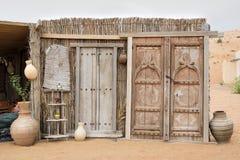 Tür-Wüsten-Lager Oman Stockfotografie