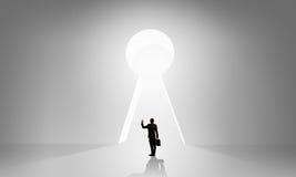 Tür zu den neuen Gelegenheiten lizenzfreie abbildung