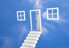 Tür zu den Wolken Stockfotos