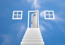 Tür zu den Wolken Stockfoto