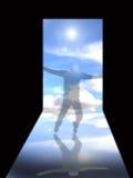 Tür zum Himmel Stockbild