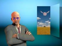 Tür zur Fantasie Lizenzfreies Stockbild
