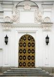 Tür zur orthodoxen Kirche in lavra Kyiv Pecherska Stockfoto