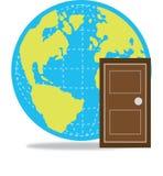 Tür zur Welt Stockfotografie