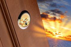 Tür zur Zukunft lizenzfreie stockbilder
