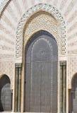 Türauslegung an Moschee Hassan II, Casablanca Lizenzfreie Stockfotos