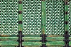 Türdetails des buddhistischen Tempels stockfotos