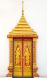 Türen des buddhistischen Tempels Stockfotografie