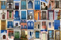 Türen des Griechenland-Sets Lizenzfreies Stockbild