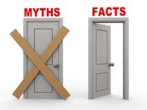 Türen des Mythos- 3d und Tatsachen lizenzfreie abbildung
