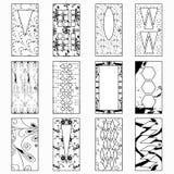 Türen, einfarbige Vektorillustration einer Sammlung Symbole Stockfotos