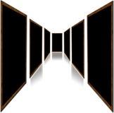Türen getrennt auf Weiß Lizenzfreie Stockbilder