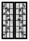 Türen mit Bambus Stockfoto