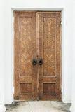 Türen mit geschnitzten Mustern und Verzierungen Lizenzfreies Stockfoto