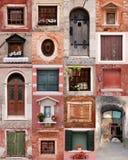 Türen und Fenster stockfoto