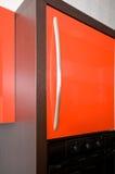 Türen und Griffe. Stockfoto