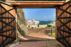 Türen von San Cristobal lizenzfreies stockbild
