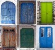 Türen von Santorini Lizenzfreie Stockbilder