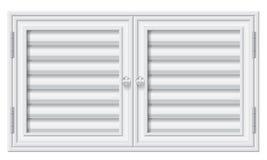 Türfensterläden auf Isolathintergrund lizenzfreie abbildung
