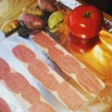 Türkei-Speck-u. -kleinen Fischs Kartoffeln Stockbilder