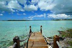Türken und Caicos - Kreide-solider Pier lizenzfreie stockfotografie